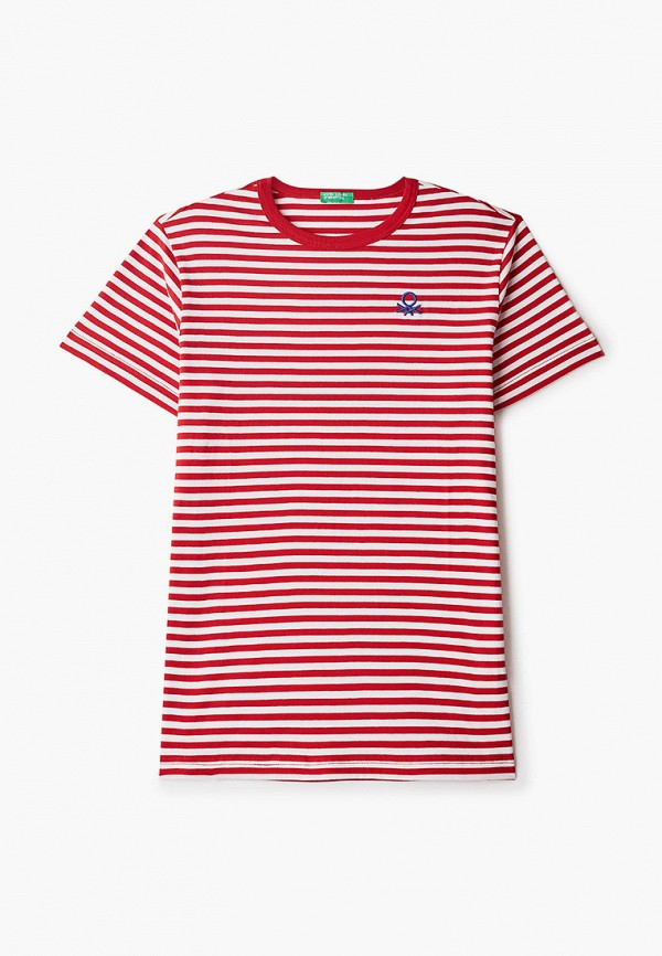 футболка с коротким рукавом united colors of benetton для мальчика, красная