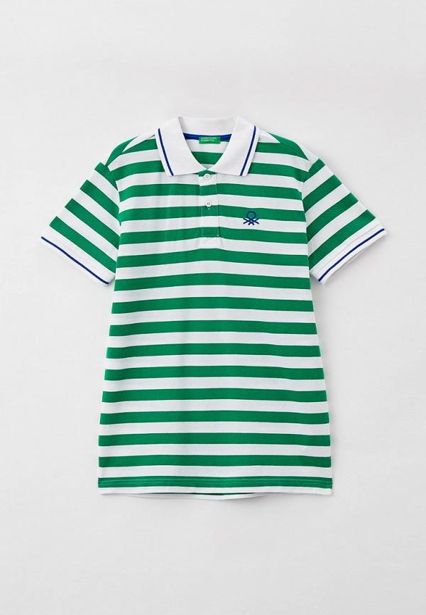 поло united colors of benetton для мальчика, зеленое