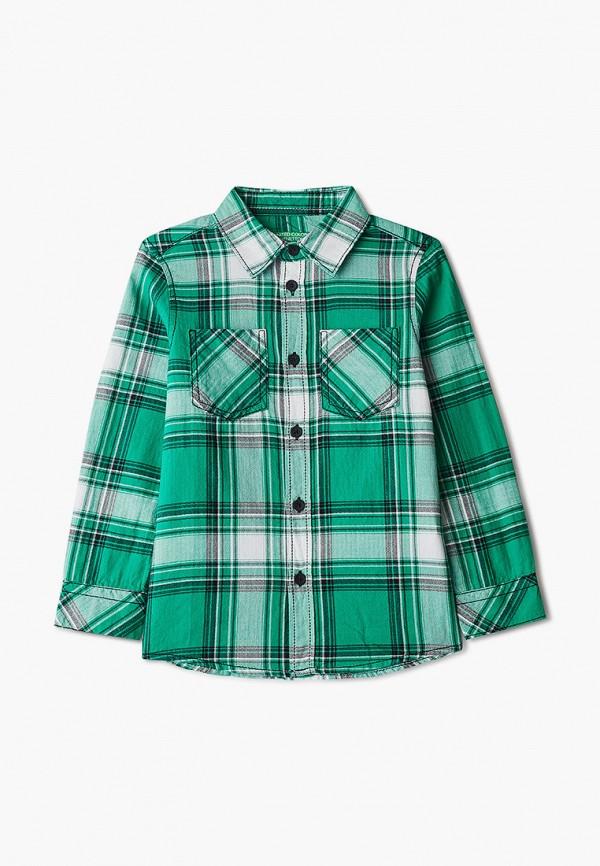 рубашка united colors of benetton для мальчика, зеленая