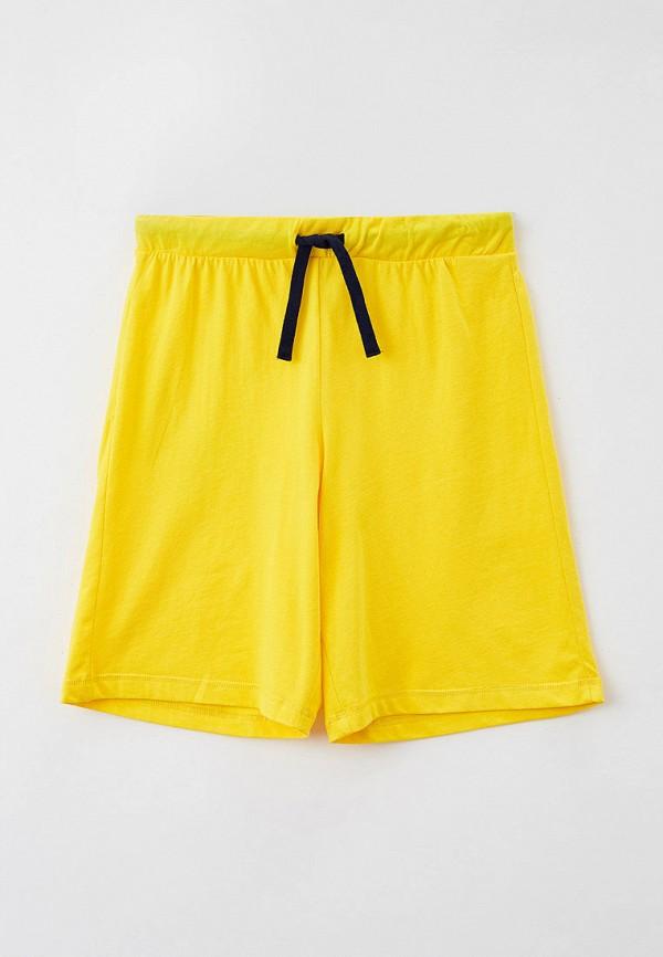 спортивные шорты united colors of benetton для мальчика, желтые