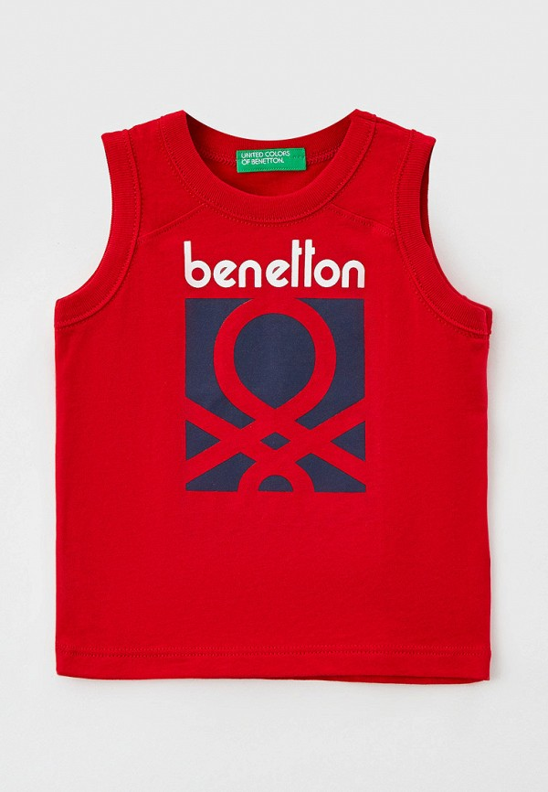 майка united colors of benetton для мальчика, красная
