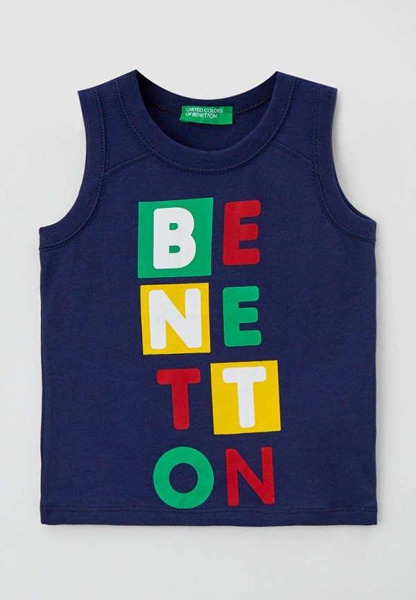 майка united colors of benetton для мальчика, синяя