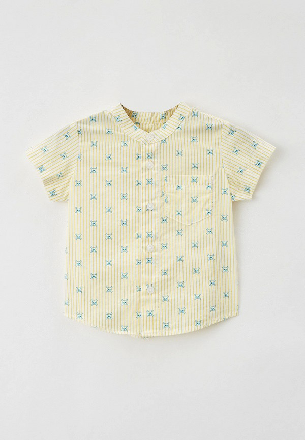 рубашка united colors of benetton для мальчика, желтая