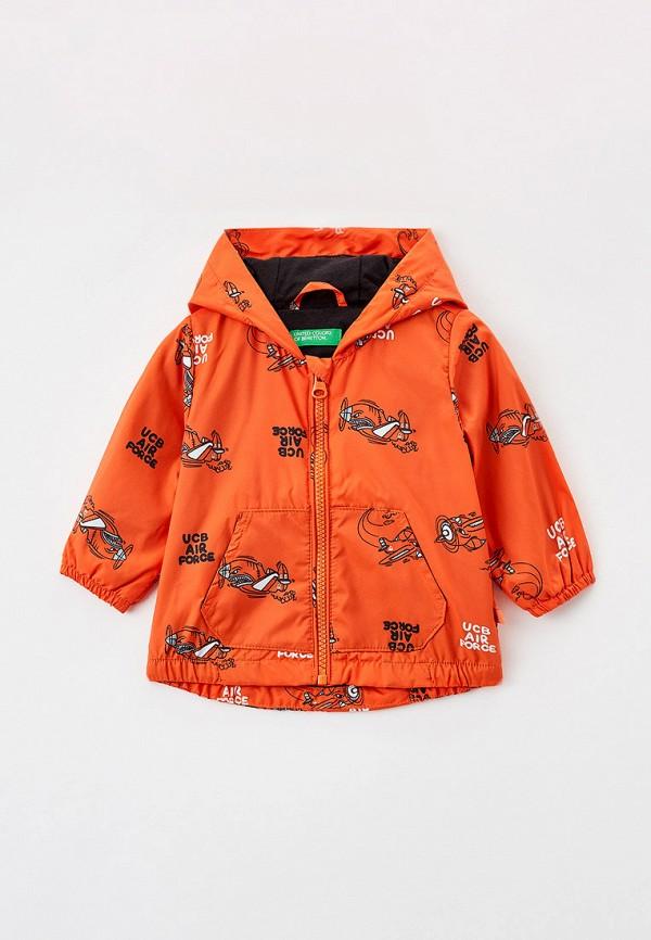 куртка united colors of benetton для мальчика, оранжевая