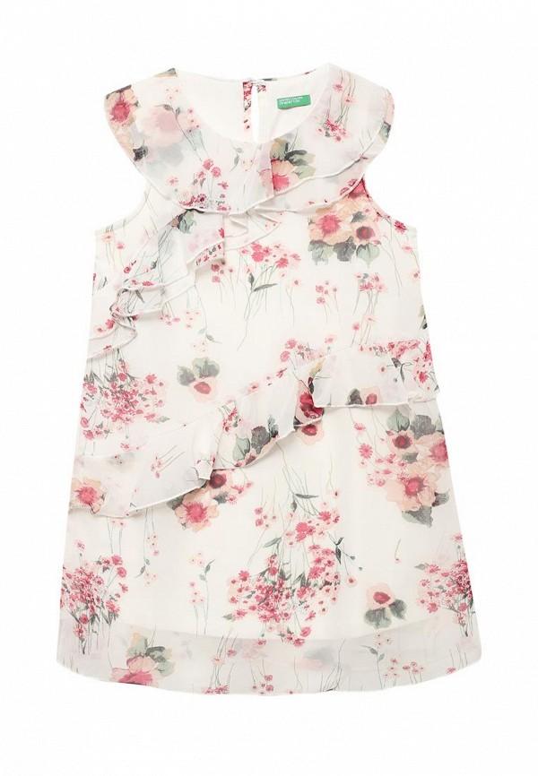 Купить Платье United Colors of Benetton, UN012EGABQZ3, белый, Весна-лето 2018