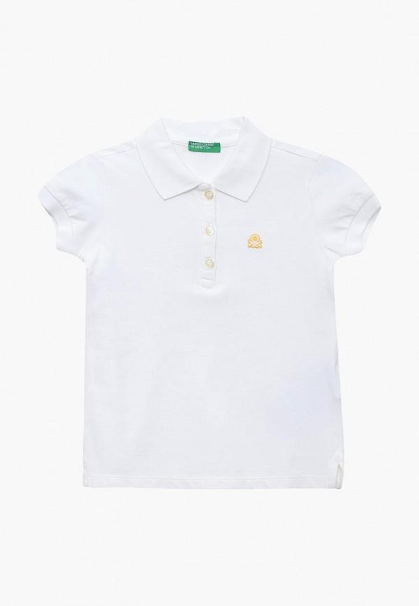 поло united colors of benetton для девочки, белое