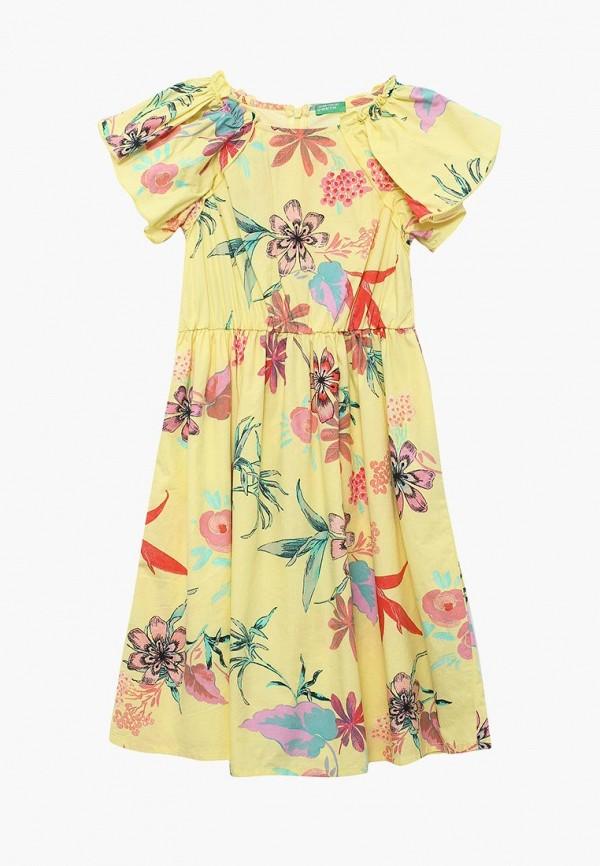 Купить Платье United Colors of Benetton, UN012EGABWJ3, желтый, Весна-лето 2018