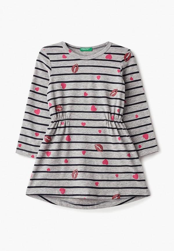 Купить Платье United Colors of Benetton, UN012EGBZZL7, серый, Осень-зима 2018/2019
