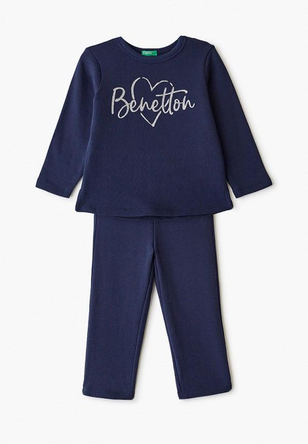 спортивные спортивный костюм united colors of benetton для девочки, синий