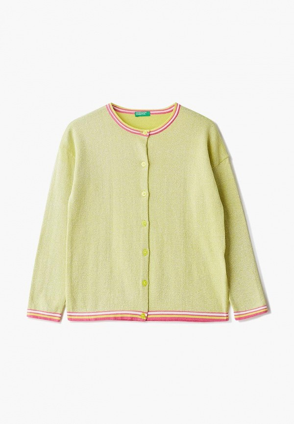 кардиган united colors of benetton для девочки, желтый