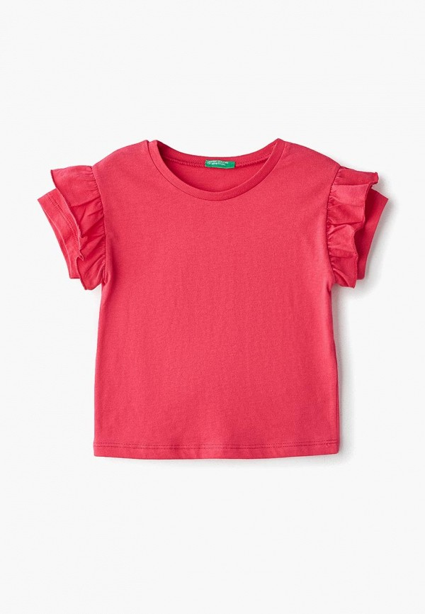 Купить Футболка United Colors of Benetton, un012egdwzr7, розовый, Весна-лето 2019