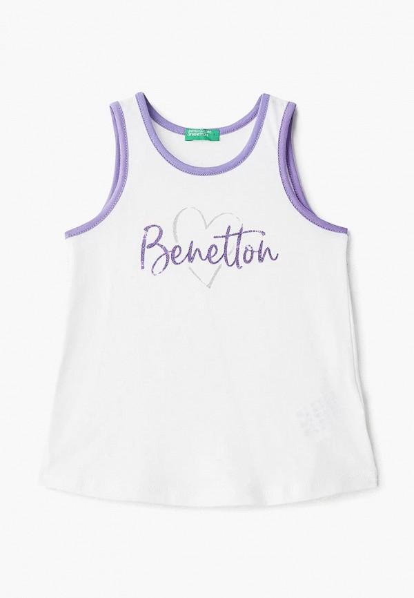 майка united colors of benetton для девочки, белая