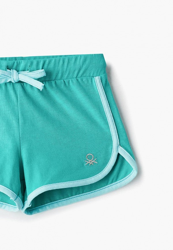 Фото 3 - Шорты United Colors of Benetton зеленого цвета