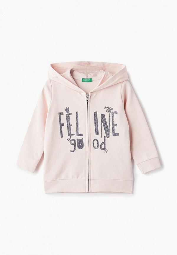 Купить Толстовка United Colors of Benetton, un012egdxae8, розовый, Весна-лето 2019