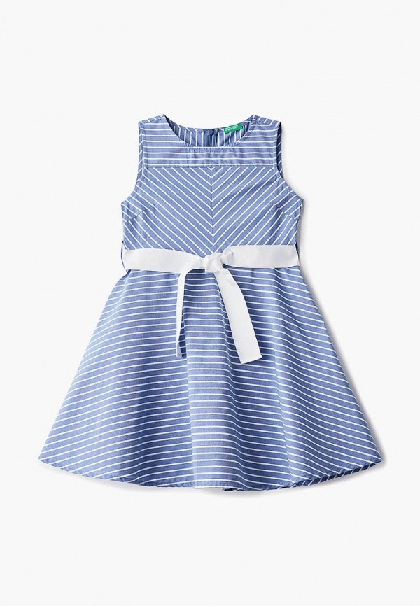 повседневные платье united colors of benetton для девочки, синее