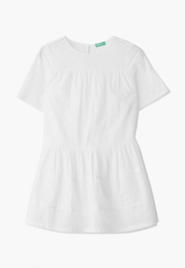 повседневные платье united colors of benetton для девочки, белое