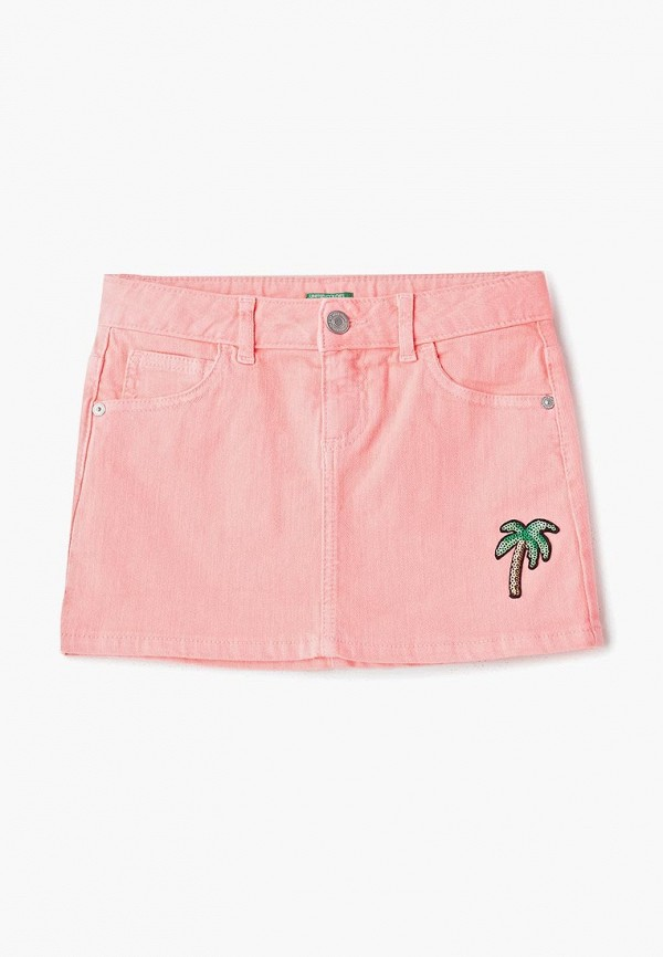 юбка united colors of benetton для девочки, розовая