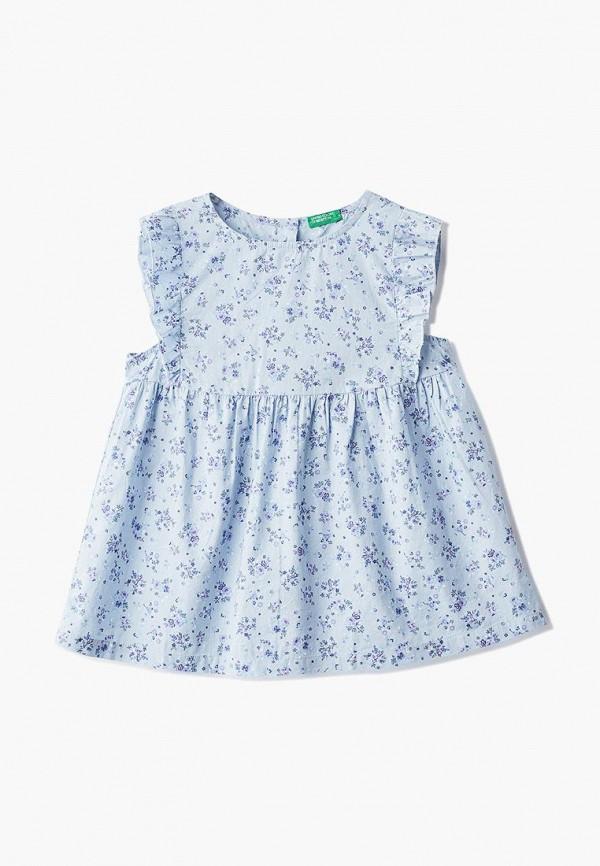 блузка united colors of benetton для девочки, голубая