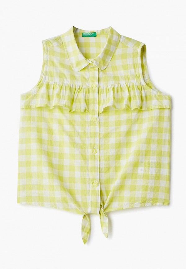рубашка united colors of benetton для девочки, желтая