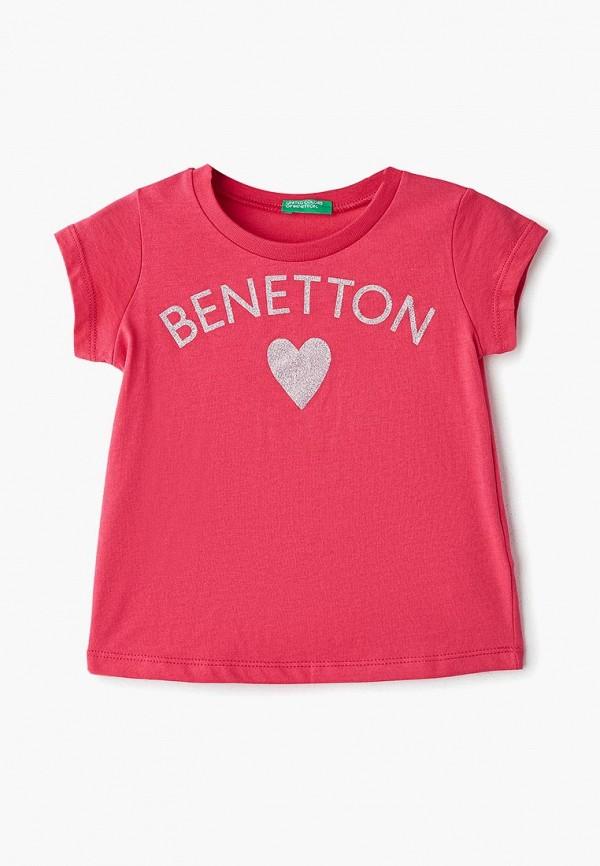 Купить Футболка United Colors of Benetton, un012egdxjv8, розовый, Весна-лето 2019