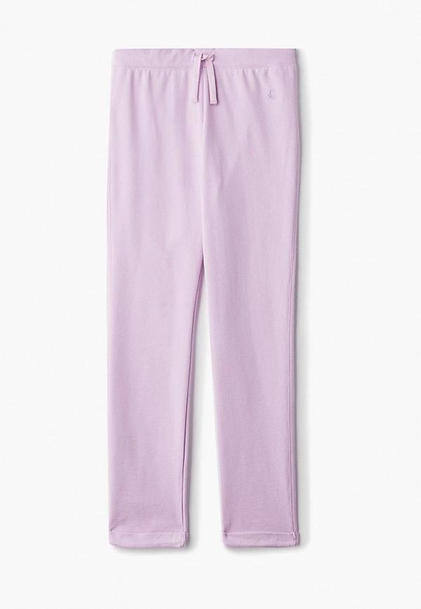 спортивные спортивные брюки united colors of benetton для девочки, фиолетовые