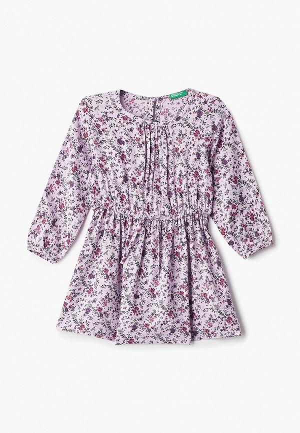 повседневные платье united colors of benetton для девочки, фиолетовое