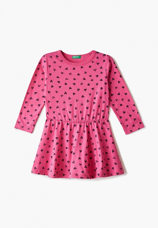 платье united colors of benetton для девочки, розовое