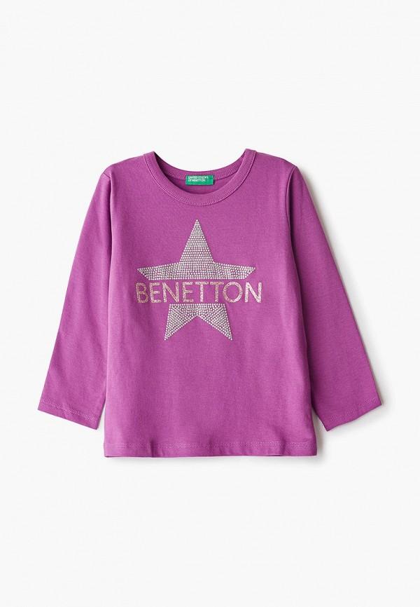 лонгслив united colors of benetton для девочки, фиолетовый