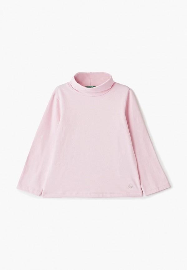 водолазка united colors of benetton для девочки, розовая