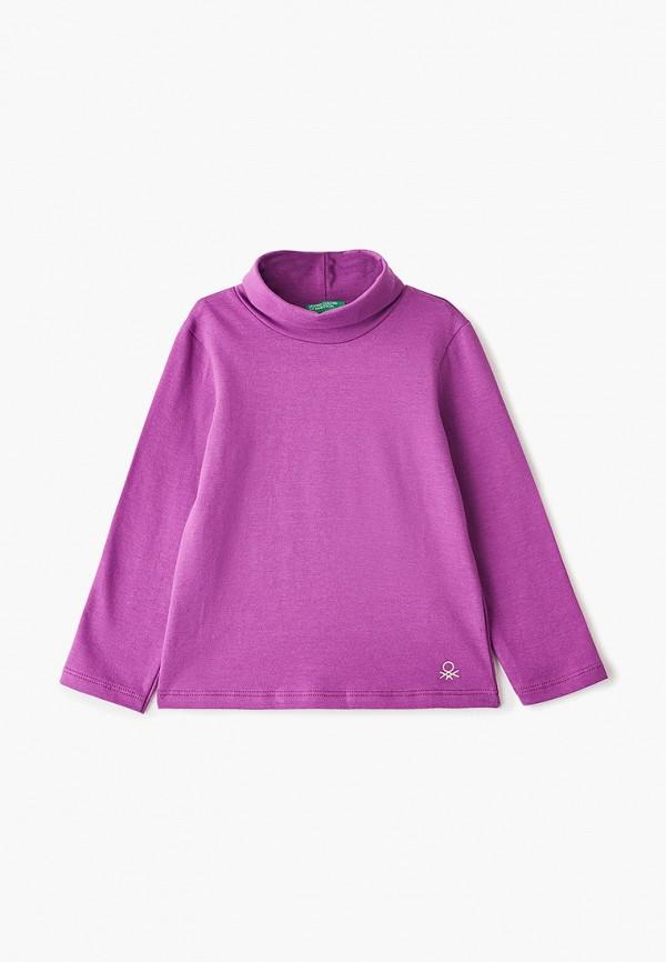 водолазка united colors of benetton для девочки, фиолетовая