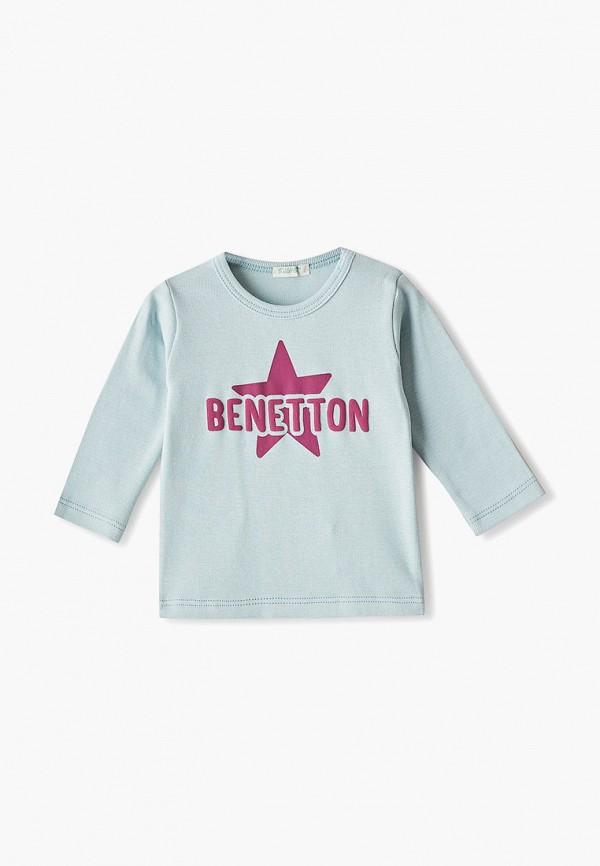 лонгслив united colors of benetton для девочки, бирюзовый