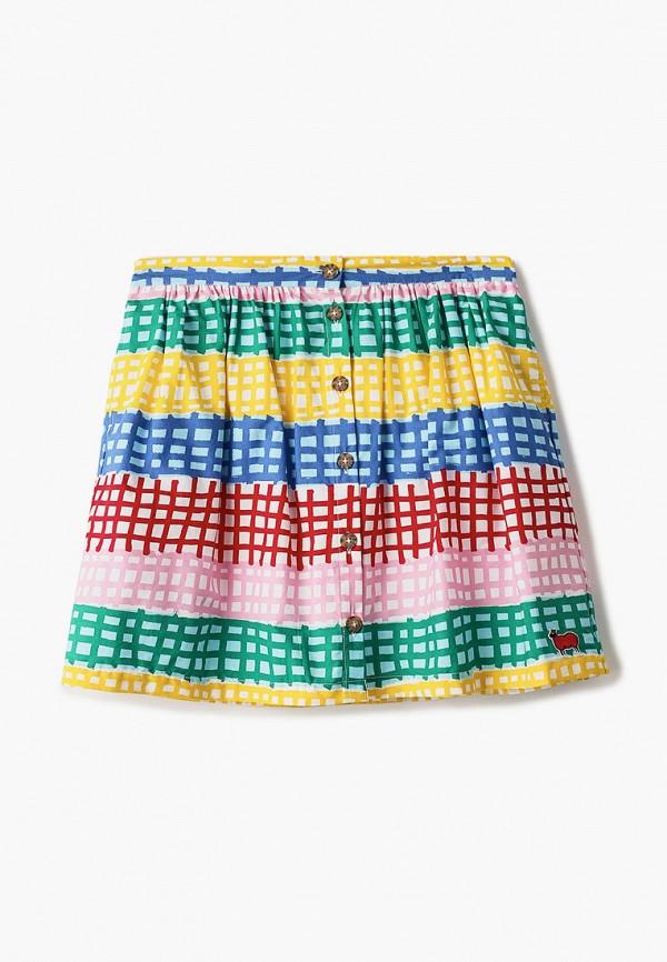 юбка united colors of benetton для девочки, разноцветная