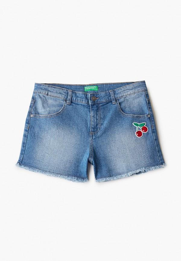 джинсовые шорты united colors of benetton для девочки, синие