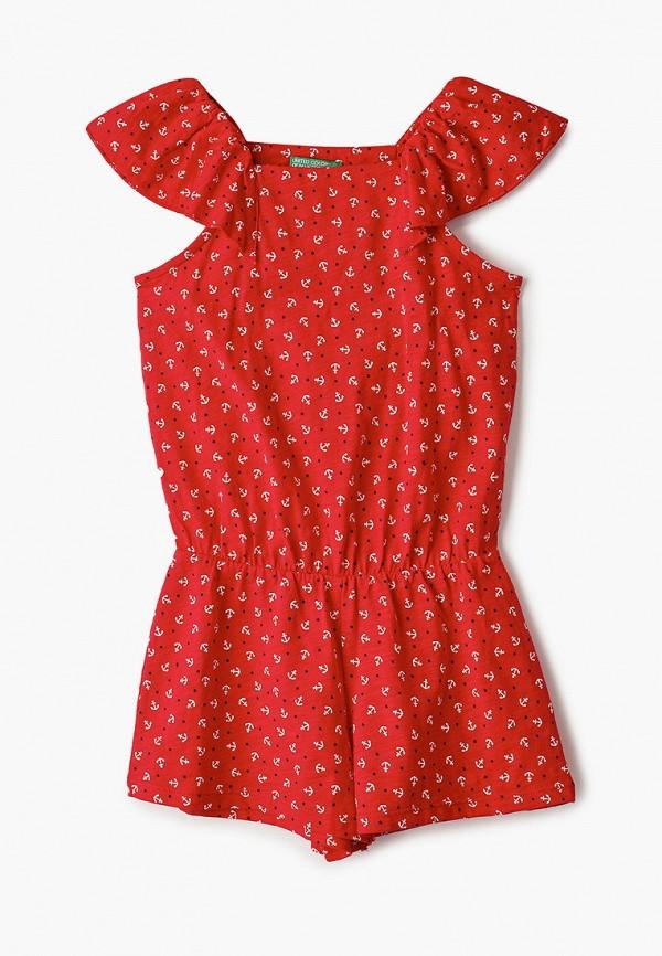 комбинезон с брюками united colors of benetton для девочки, красный
