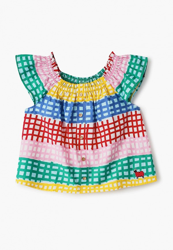 блузка united colors of benetton для девочки, разноцветная