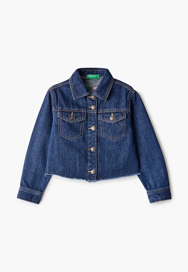 куртка united colors of benetton для девочки, синяя