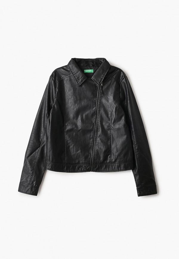 куртка united colors of benetton для девочки, черная