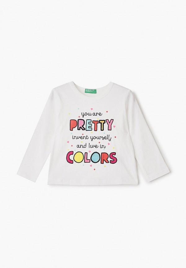 лонгслив united colors of benetton для девочки, белый