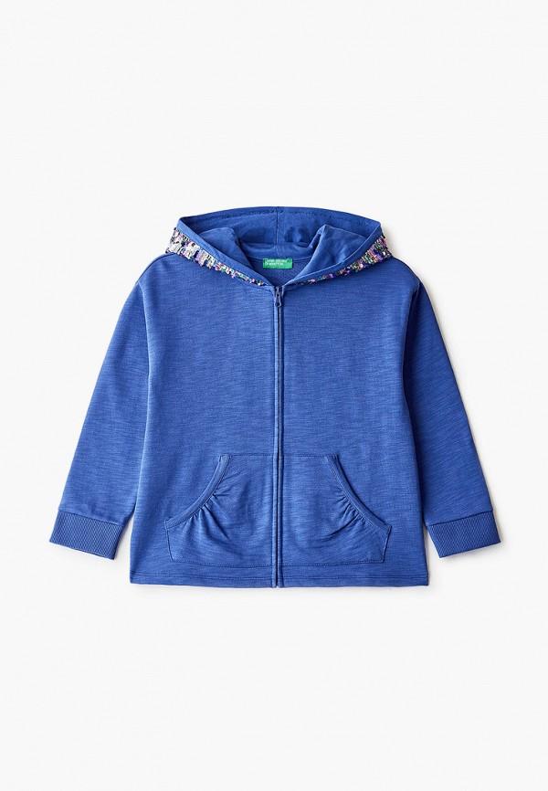 толстовка united colors of benetton для девочки, синяя