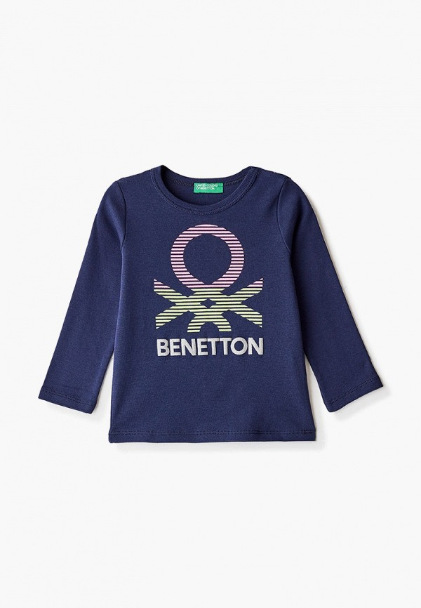 лонгслив united colors of benetton для девочки, синий