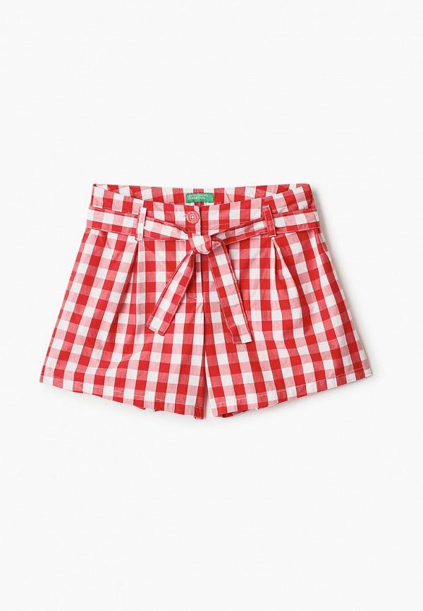 шорты united colors of benetton для девочки, красные