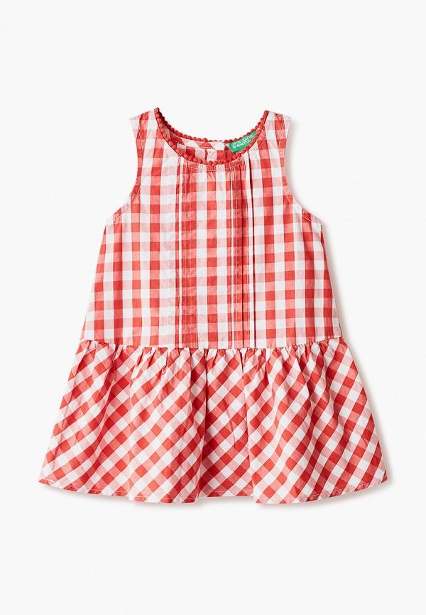 повседневные платье united colors of benetton для девочки, красное