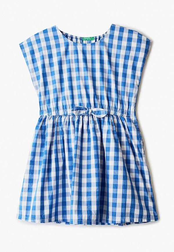 повседневные платье united colors of benetton для девочки, голубое