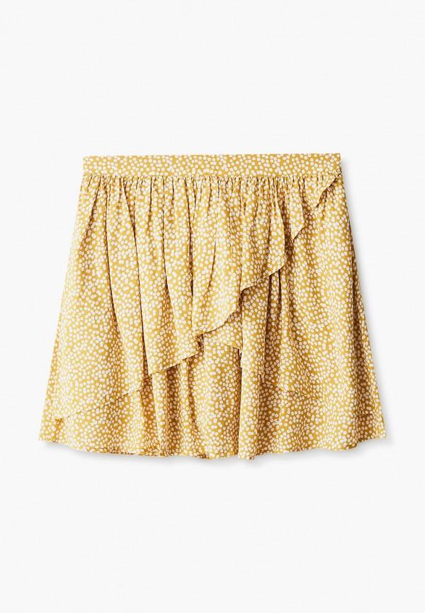 юбка united colors of benetton для девочки, желтая