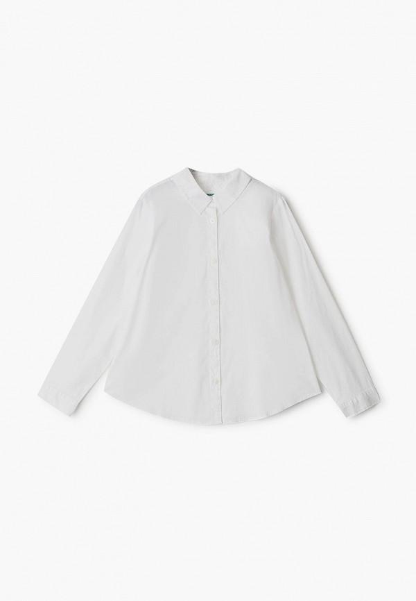 блузка united colors of benetton для девочки, белая