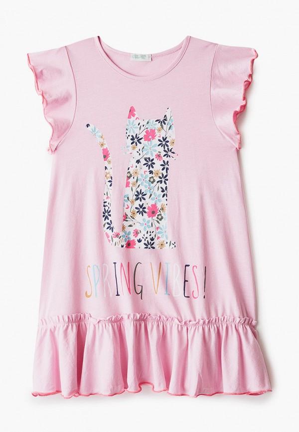 сорочка ночная united colors of benetton для девочки, розовые
