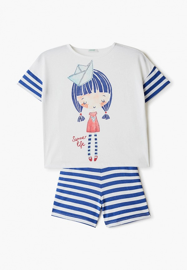 пижама united colors of benetton для девочки, белая
