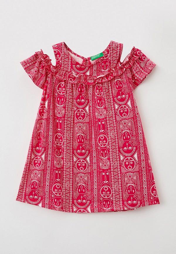 повседневные платье united colors of benetton для девочки, розовое