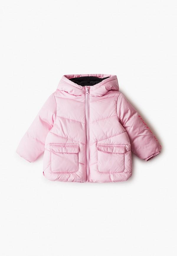 куртка united colors of benetton для девочки, розовая