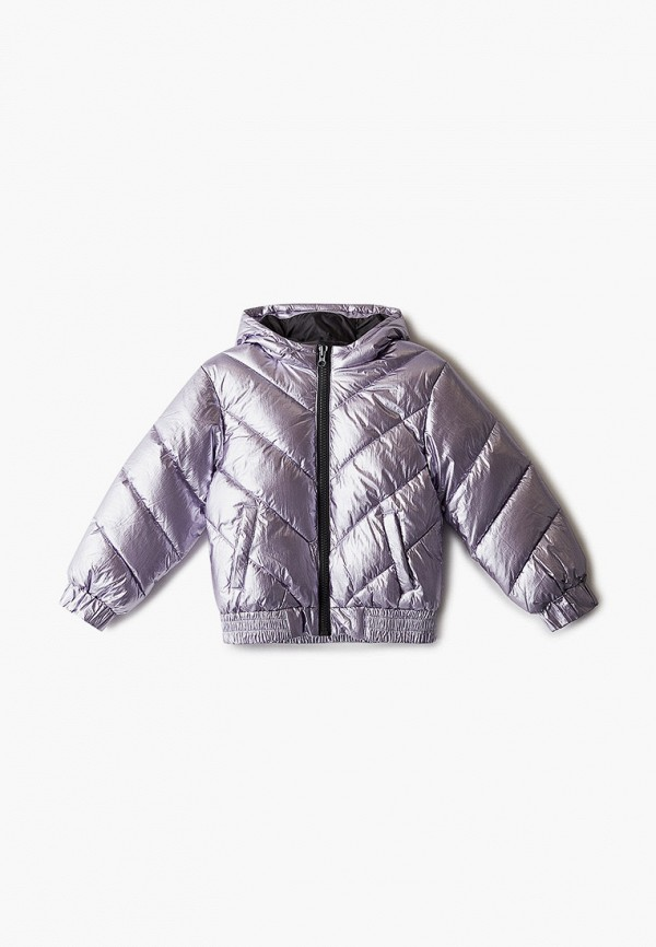 утепленные куртка united colors of benetton для девочки, золотая